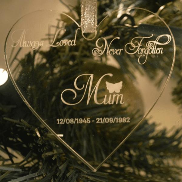 Always Loved Never Forgotten Christmas Ornament