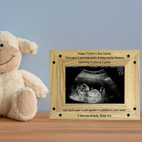 Father's Day Baby Scan Photo Frame