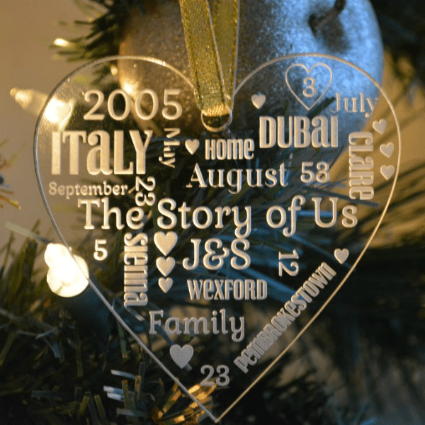 The Story of Us Christmas Ornament