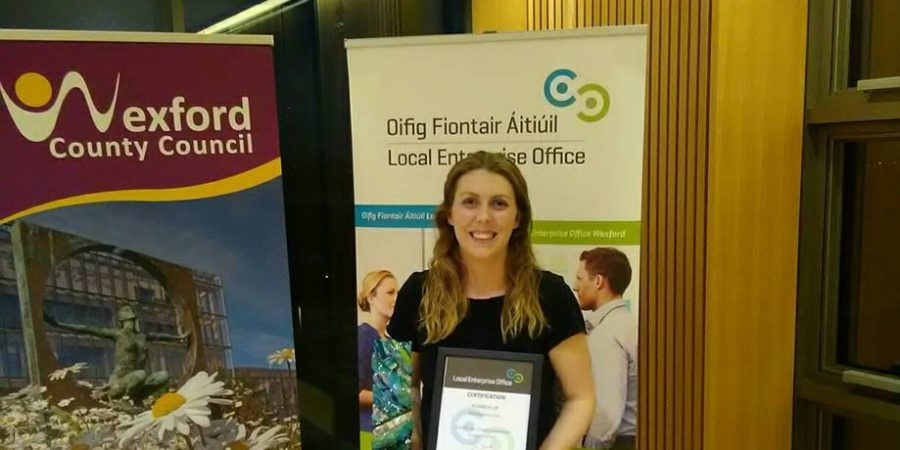 IBYE County Wexford Best Business Idea Runner Up Sandra Martin of Bosca Spraoi