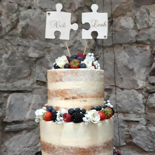 Jigsaw Wedding Cake Topper Peronsalised Wooden Cake Toppers Ireland