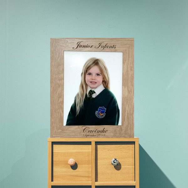 Personalised School Picture Photo Frame Ireland
